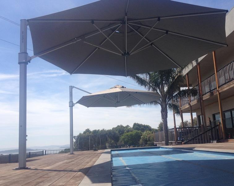 Octagonal Commercial Cantilever Umbrellas