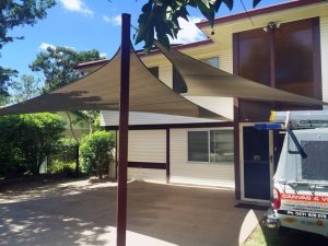 double shade sail residential