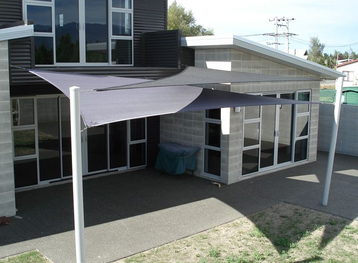 Patio Shade Sail Structure
