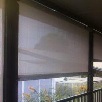 Balcony guided blind inside