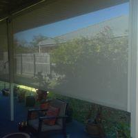 Roller blind outdoor view