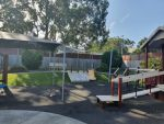 Z16 Rainbow Shade Fabric Shade Sail installed for Deception Bay Respite Centre. Colour is Charcoal