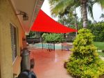 Extrablock fabric Shade Sail was installed for Trevor of Caboolture colour is Carnival Red
