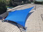Comshade XTRA Shade Sail Bridgeman Downs QLD, Colour is Blue