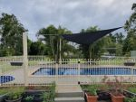 Comshade XTRA Shade Sail Caboolture QLD, colour is charcoal