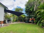 Comshade XTRA Shade Sail Gympie QLD, Colour is Charcoal