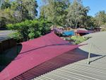 Rainbow Shade Shade Sail Burpengary QLD, coulour is Mulberry