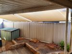 Outlook Fabric No-Frame Awning Deception Bay, Colour is Wheat